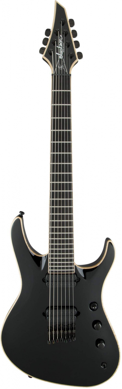 Электрогитара JACKSON USA Signature Chris Broderick Soloist™ HT7, Ebony Fingerboard, Black with Case